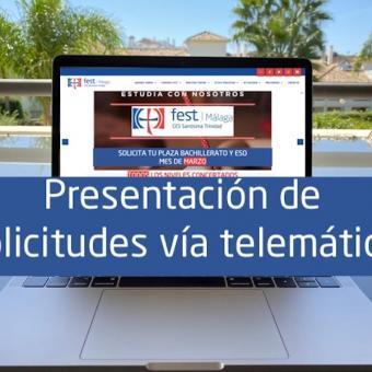Presentación Vía Telemática Trinitarias Málaga